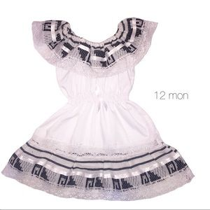 Other - White Black Mexican Dress 12 mon NEW